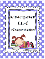 KINDERGARTEN ASSESSMENTS ELA 206 Pages $20.00