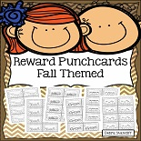 Reward Punchcards - Fall Theme 8 Pages Free