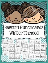 Reward Punchcards Winter Theme 8 Pages Free!