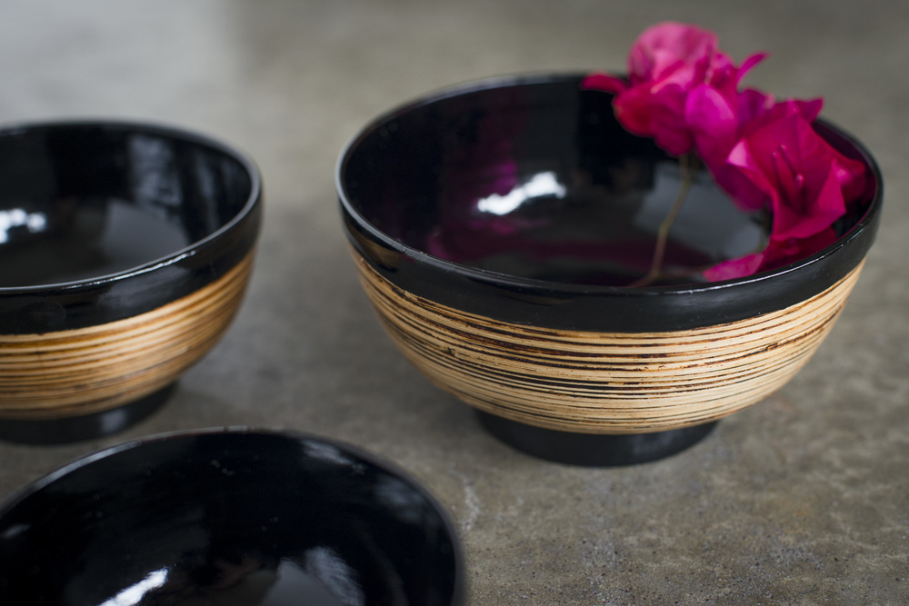 Bamboo U0026 Lacquer Bowls