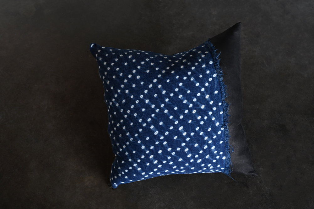 Indian Indigo Fabric Pillow