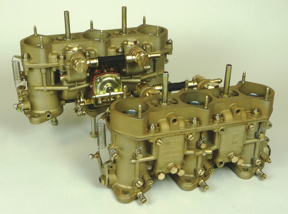 A completed set of Restored 40IDTP13C Weber carburetors for a 1970 914/6.