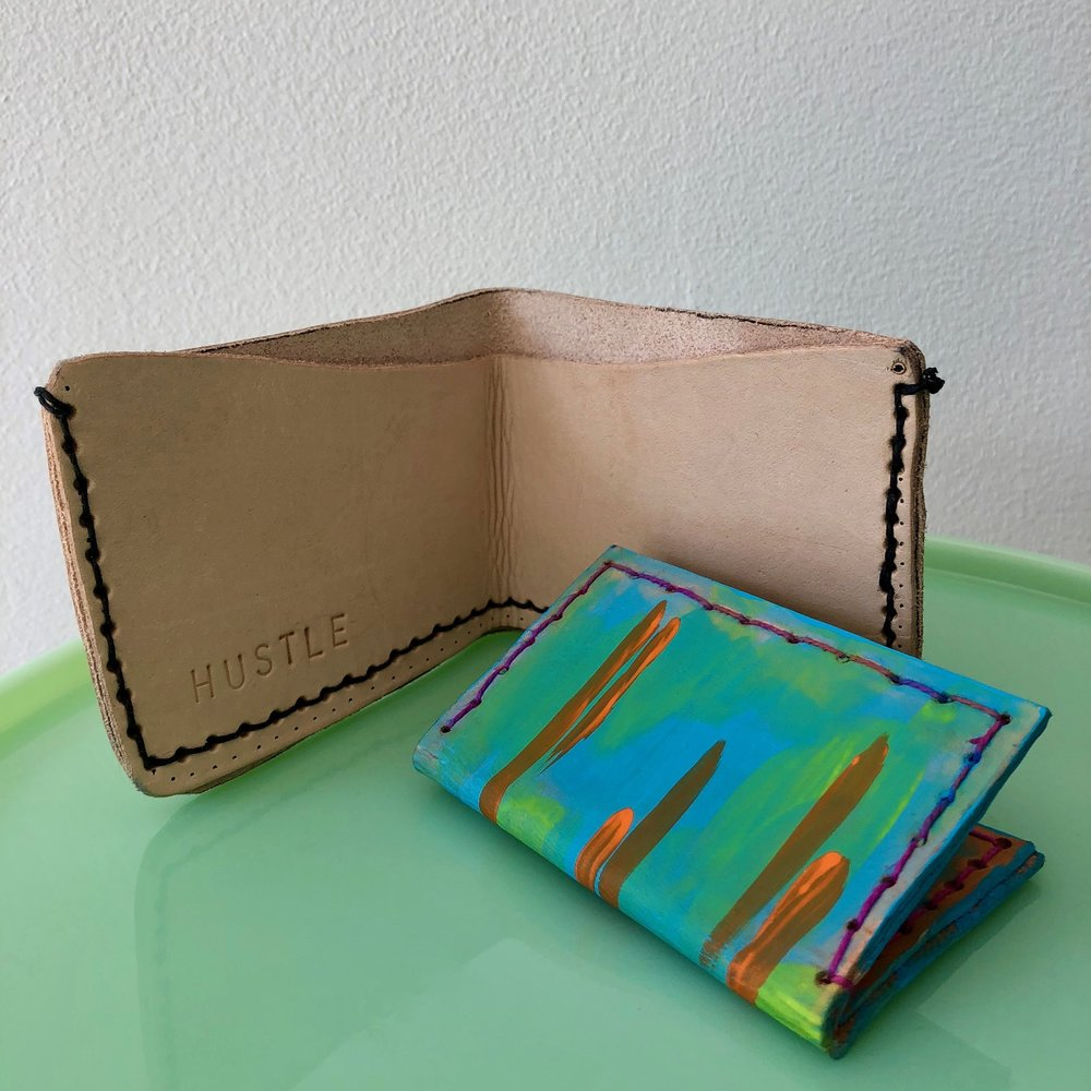 Leather Wallet  - make a personalized leather billfold wallet.