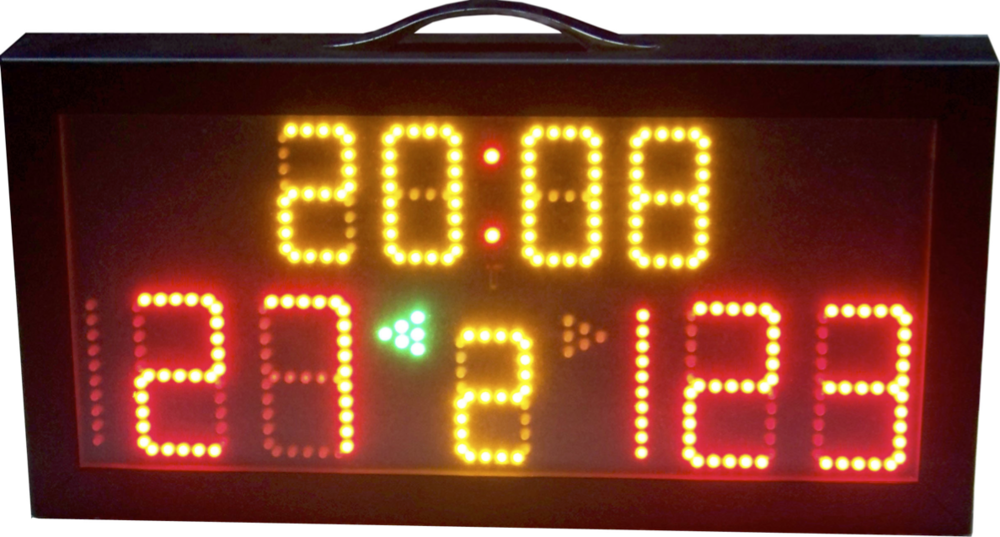 Electronic Portable Scoreboard    Dimensions : 60cm x 30cm x 8cm   Weight : Approx. 2.8Kg (unpacked)