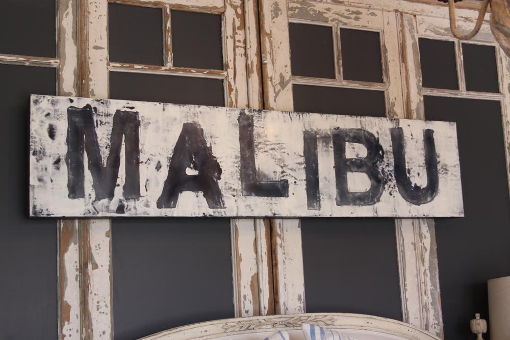 LISA SEMLER • malibu sign