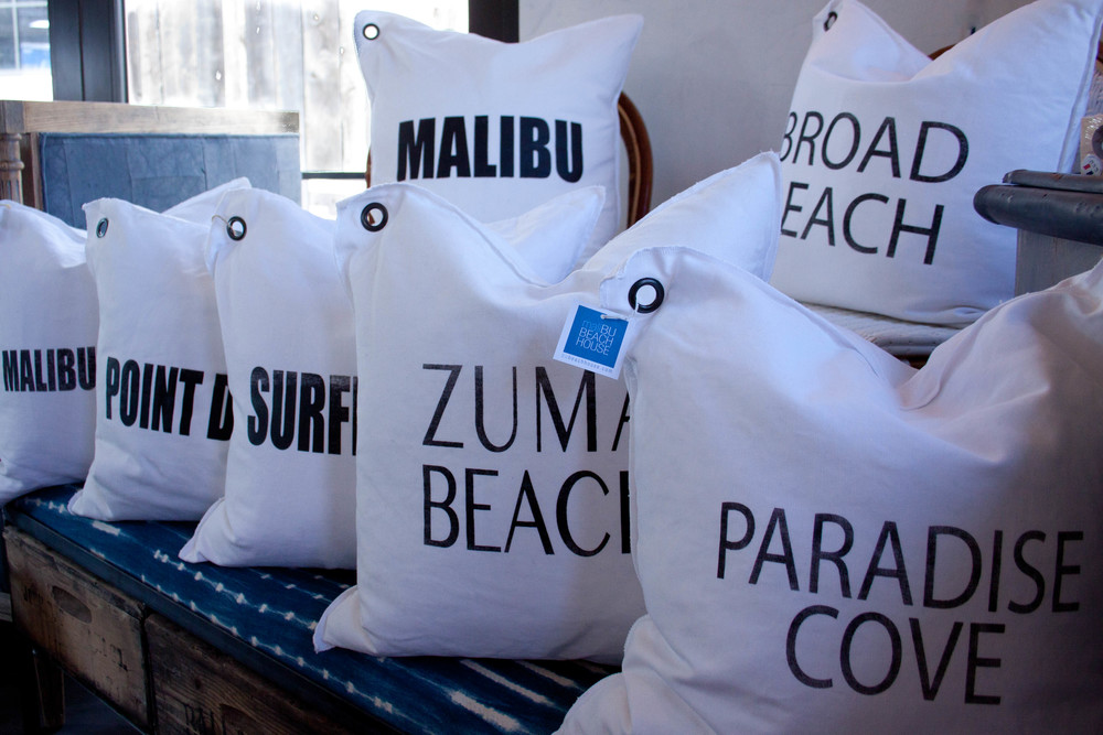 WHITE LINE | custom malibu pillows