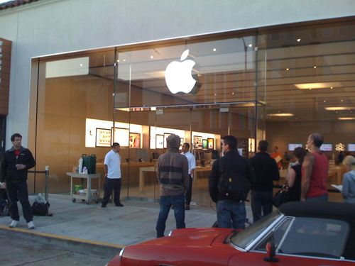 Apple store line: Chestnut street. San Francisco. Yes, Apple provided coffee.