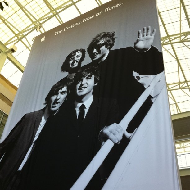 Beatles poster (Taken with Instagram at Apple Inc.)