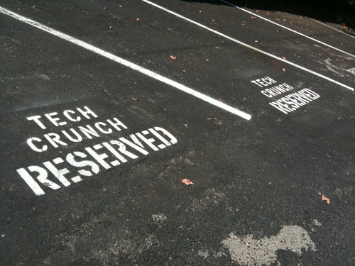TechCrunch parking lot