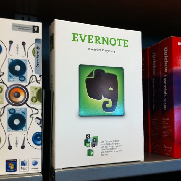 Evernote box? (Taken with Instagram at Apple - The Company Store)