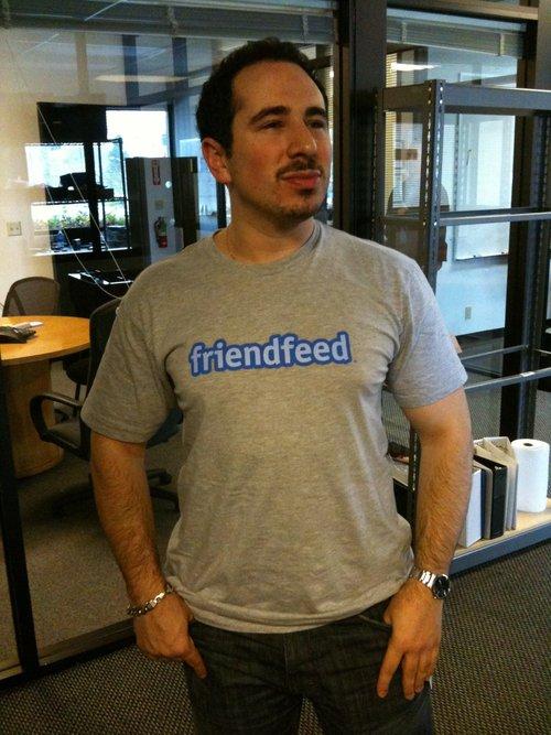 Wearing my Google Buzz t-shirt to work