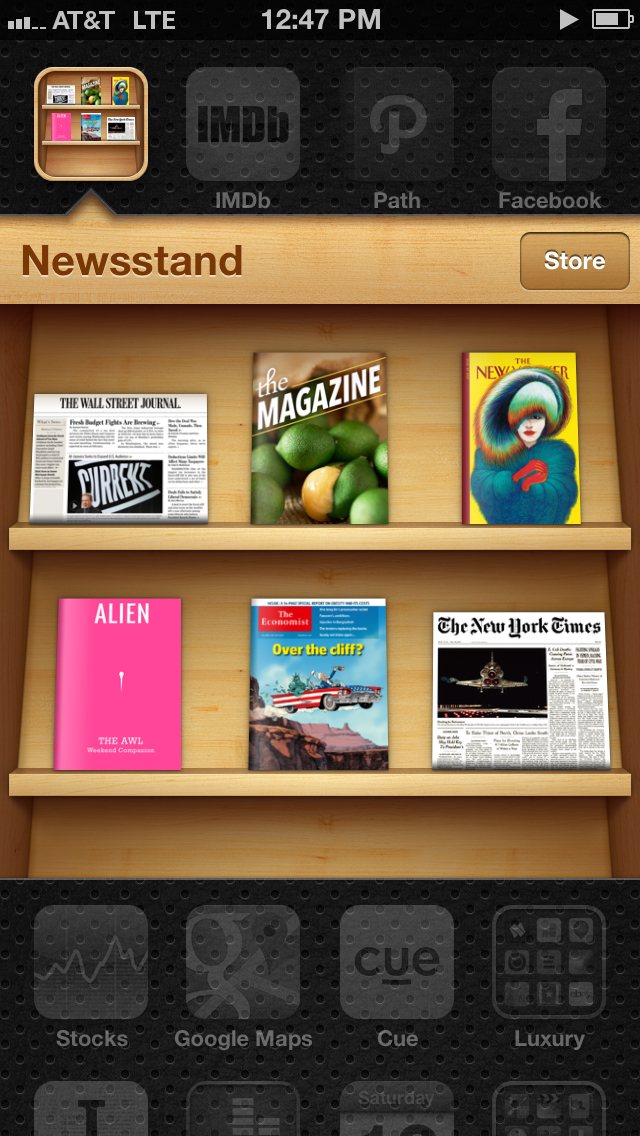 Newsstand is filling up. Need more time each day.