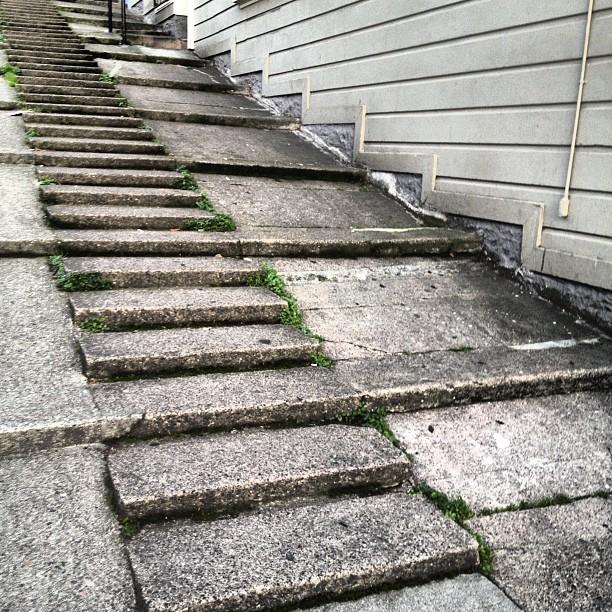 Sidewalk steps (Taken with Instagram at North Beach)