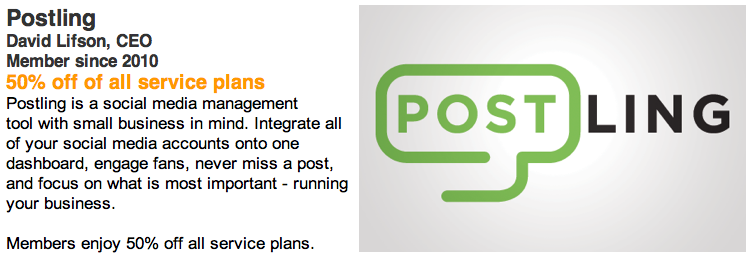 New Founderscard benefits featuring Postling AWESOME! Good work team Postling.