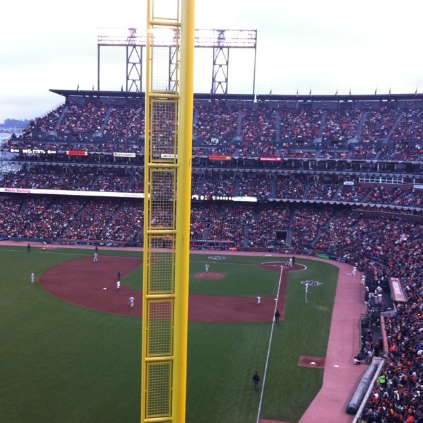 View from the Media section (Taken with instagram at AT&T Park)