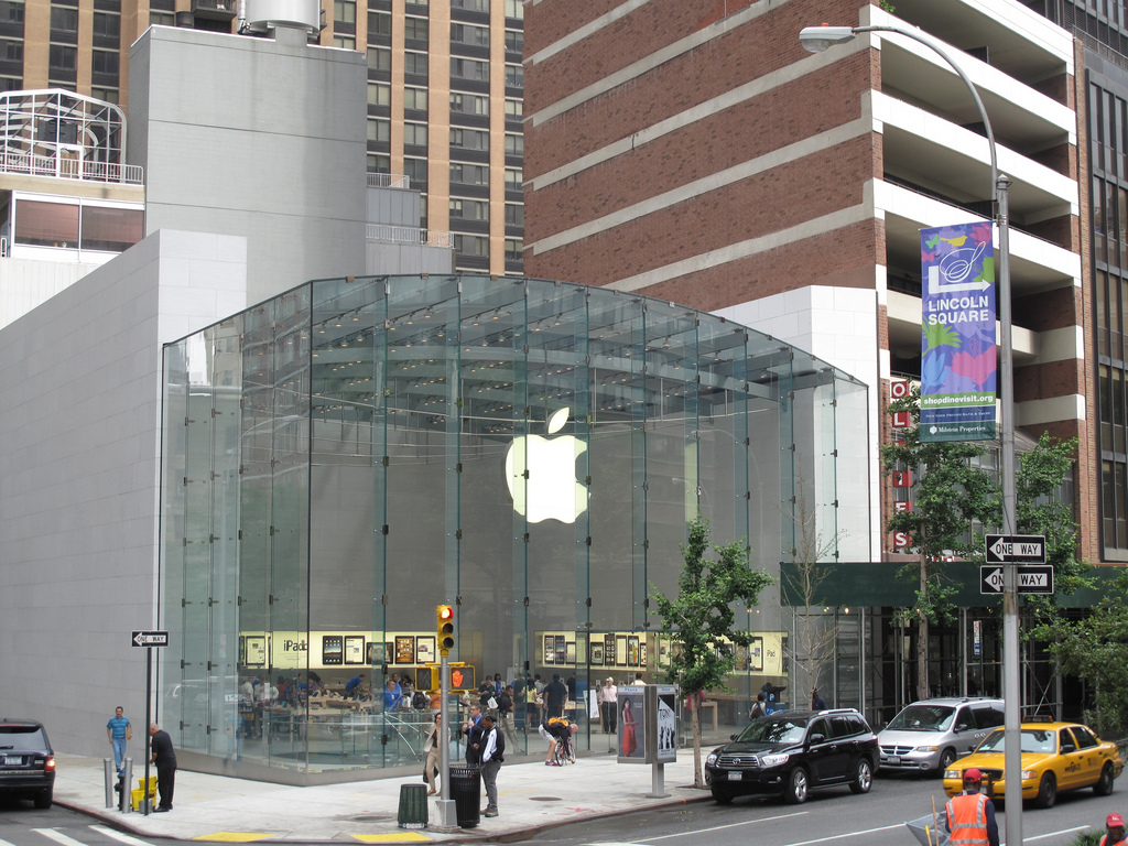 Everyone talks about the 5th Avenue Apple Store in Manhattan. The Upper West Side Apple Store is pretty spectacular too.