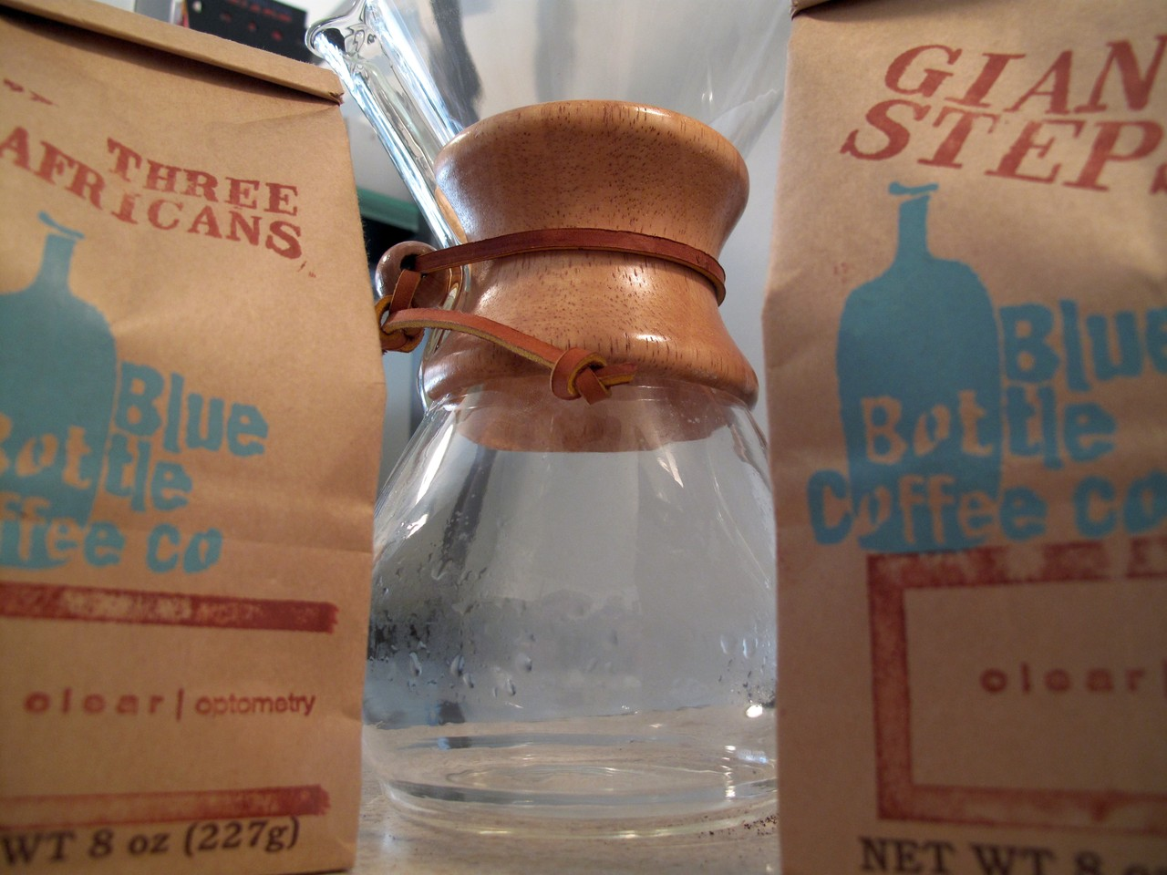 The real Chemex experiment Blue Bottle beans - Three Africans & Giant Steps. Respect.