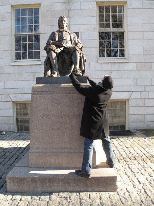 John Harvard's statue: You can see more pictures like this here: www.flickr.com/photos/tehdik/tags/humping/