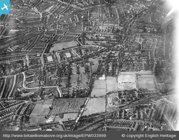 Green Dale and surroundings, East Dulwich, from the south-east, 1930
