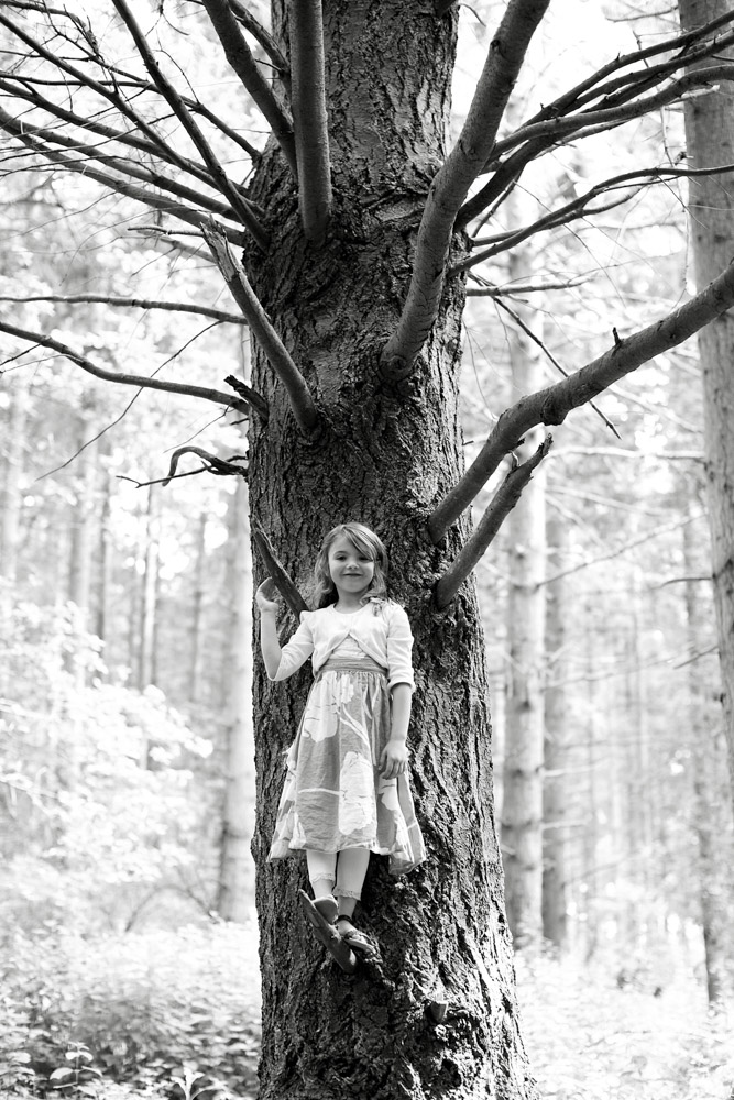 atmospheric woodland portrait of a girl