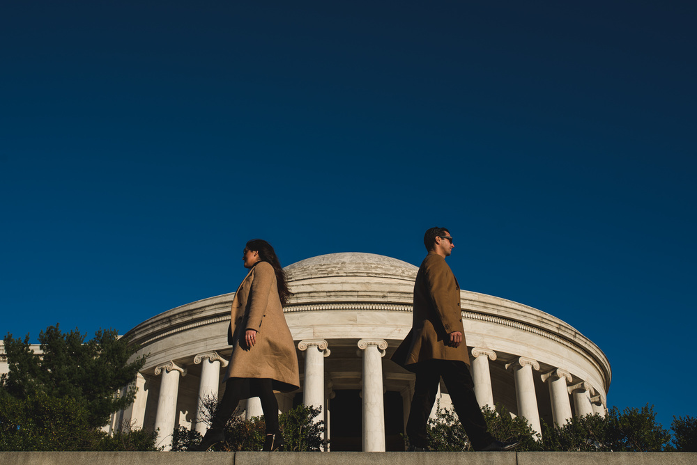 Jefferson Memorial Washington DC Engagement Session by Mantas Kubilinskas-4.jpg
