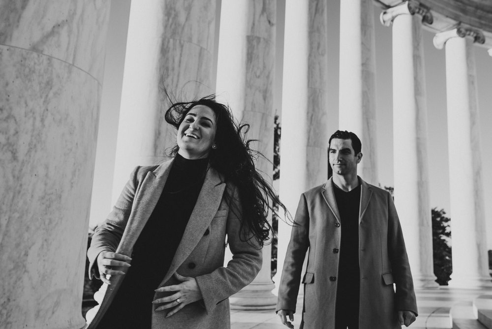 Jefferson Memorial Washington DC Engagement Session by Mantas Kubilinskas-15.jpg