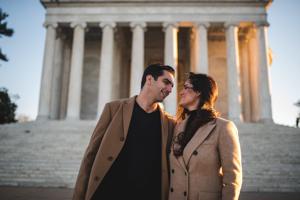 Jefferson Memorial Washington DC Engagement Session by Mantas Kubilinskas-20.jpg