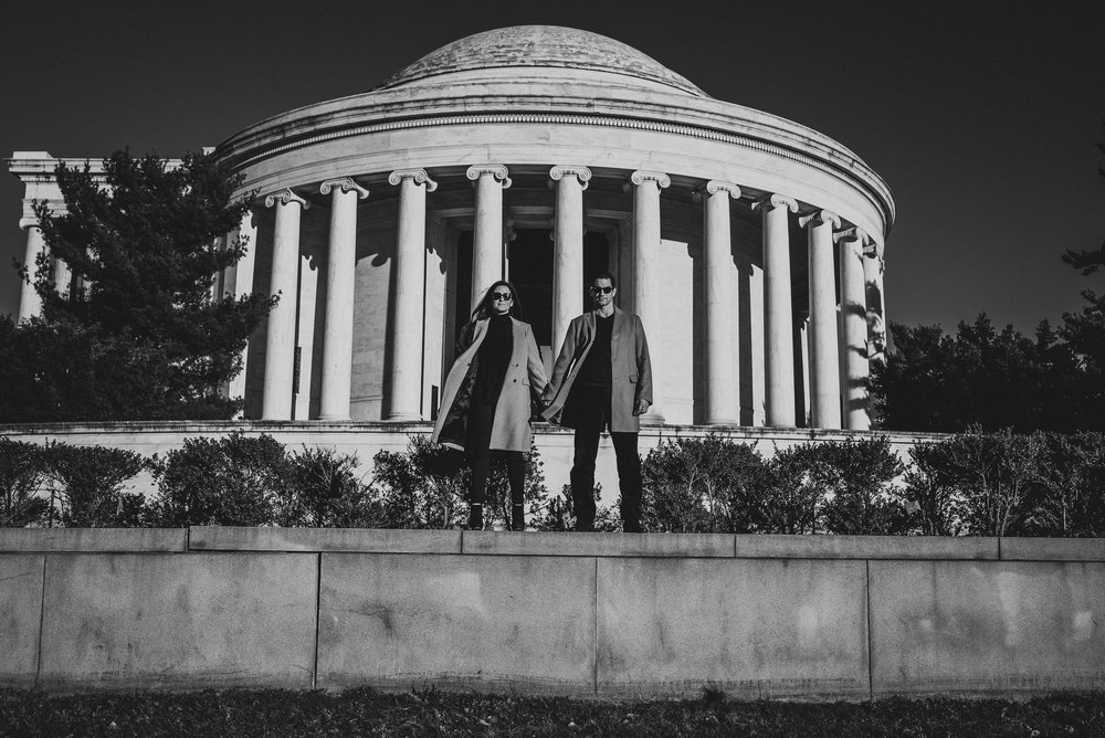 Jefferson Memorial Washington DC Engagement Session by Mantas Kubilinskas.jpg