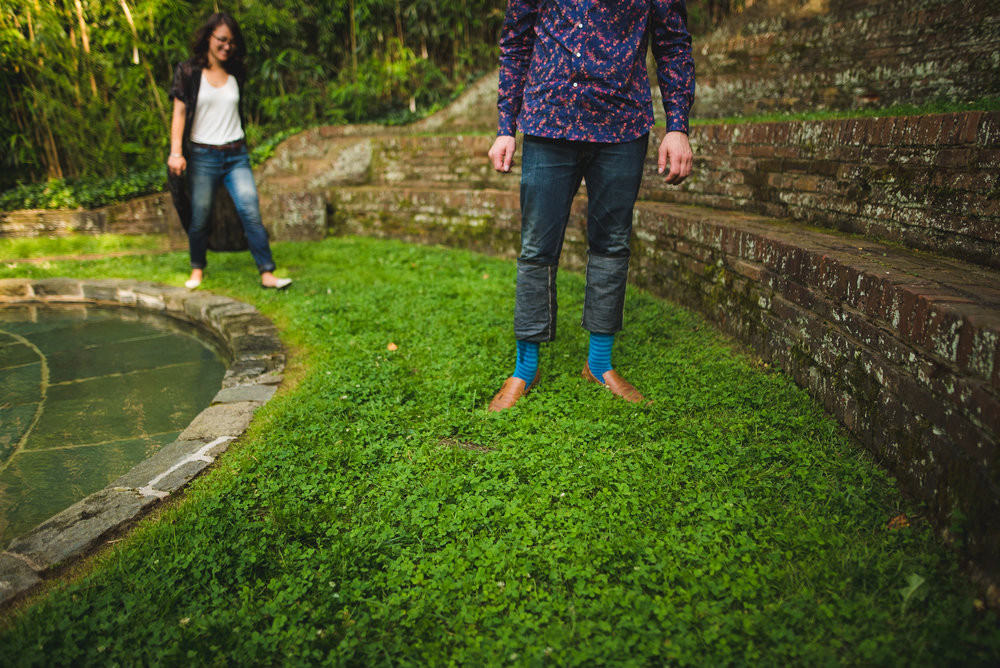dumbarton oaks engagement session