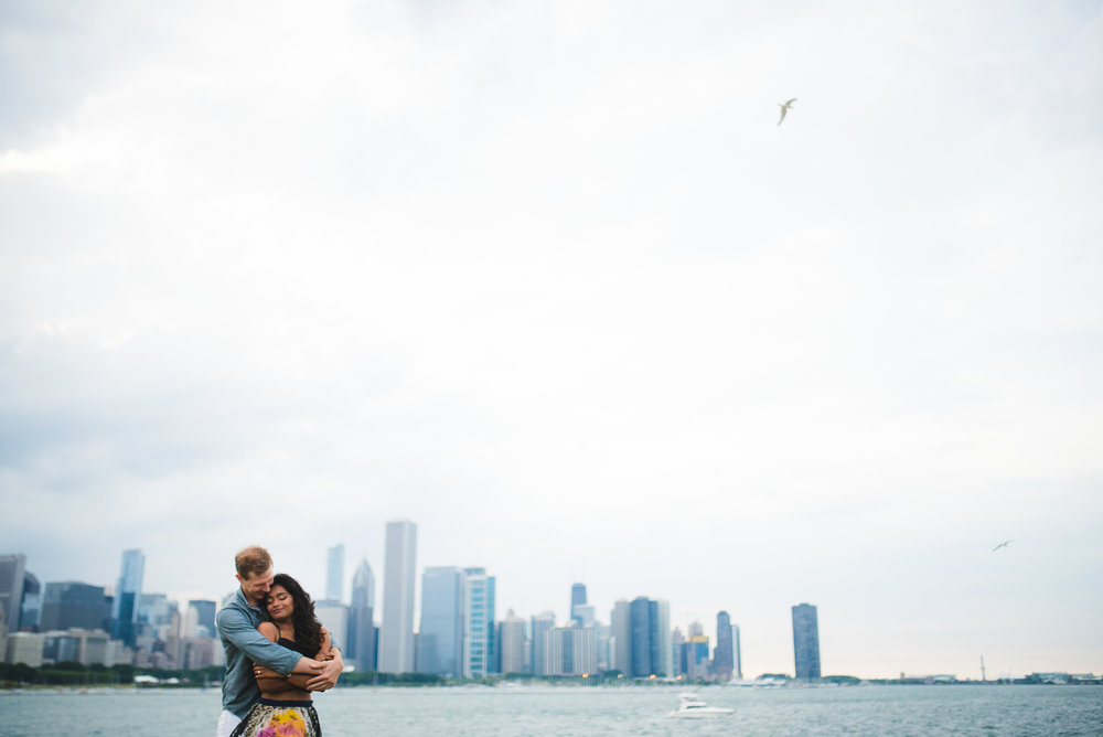 Millennium Park engagement photography