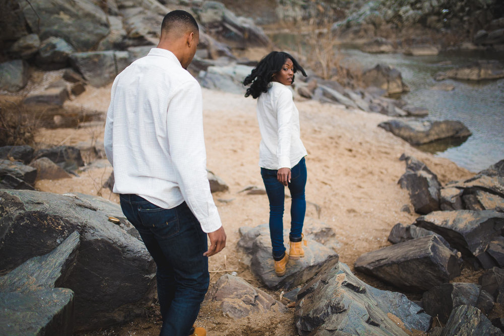 great falls engagement photos