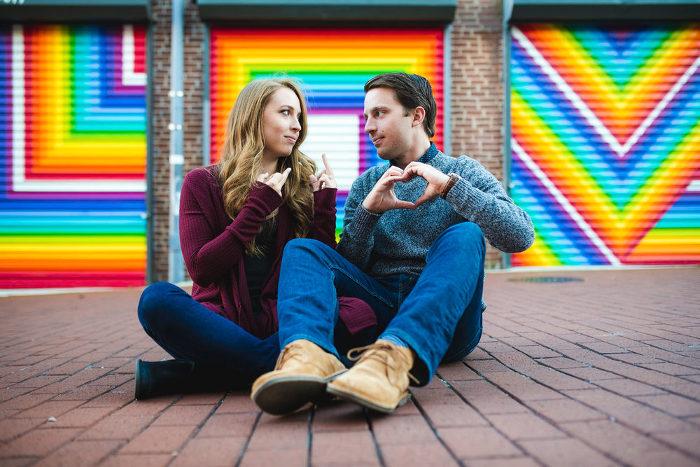 Fun Blagden Alley engagement session