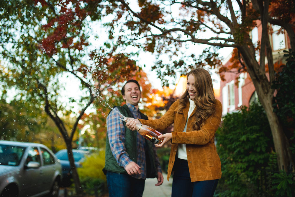 Blagden Alley engagement sesion