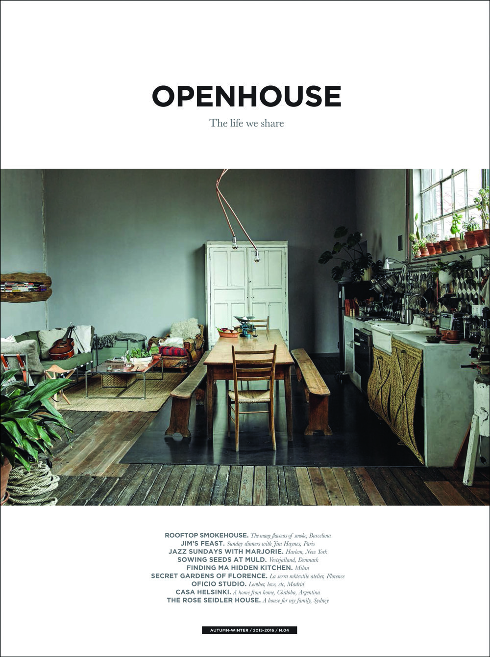 OPENHOUSE MAGAZINE ,  Issue 4, October 2015.