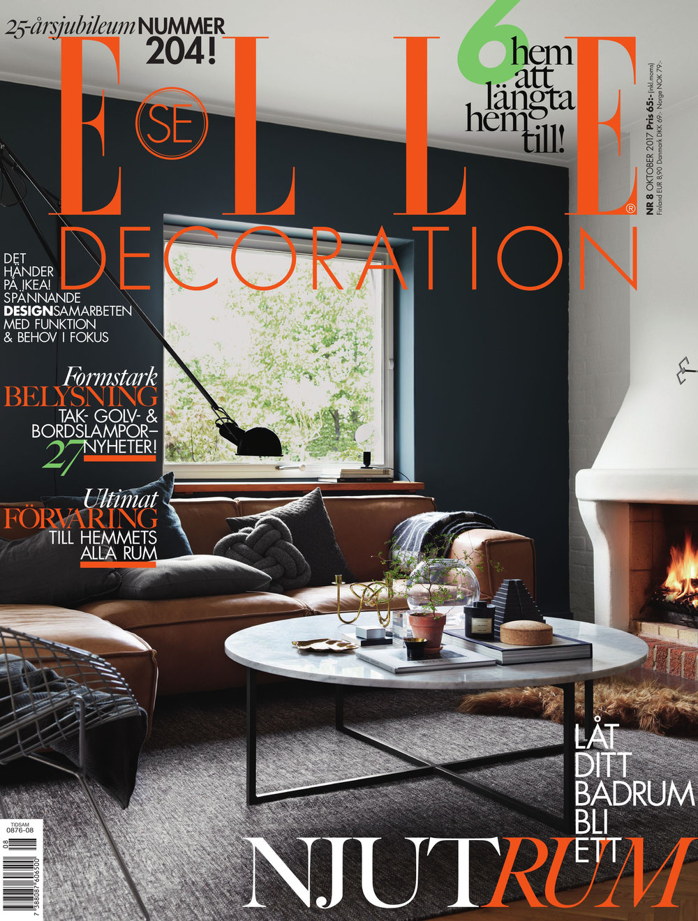 ELLE DECOR, ED Sweden, October 2017.