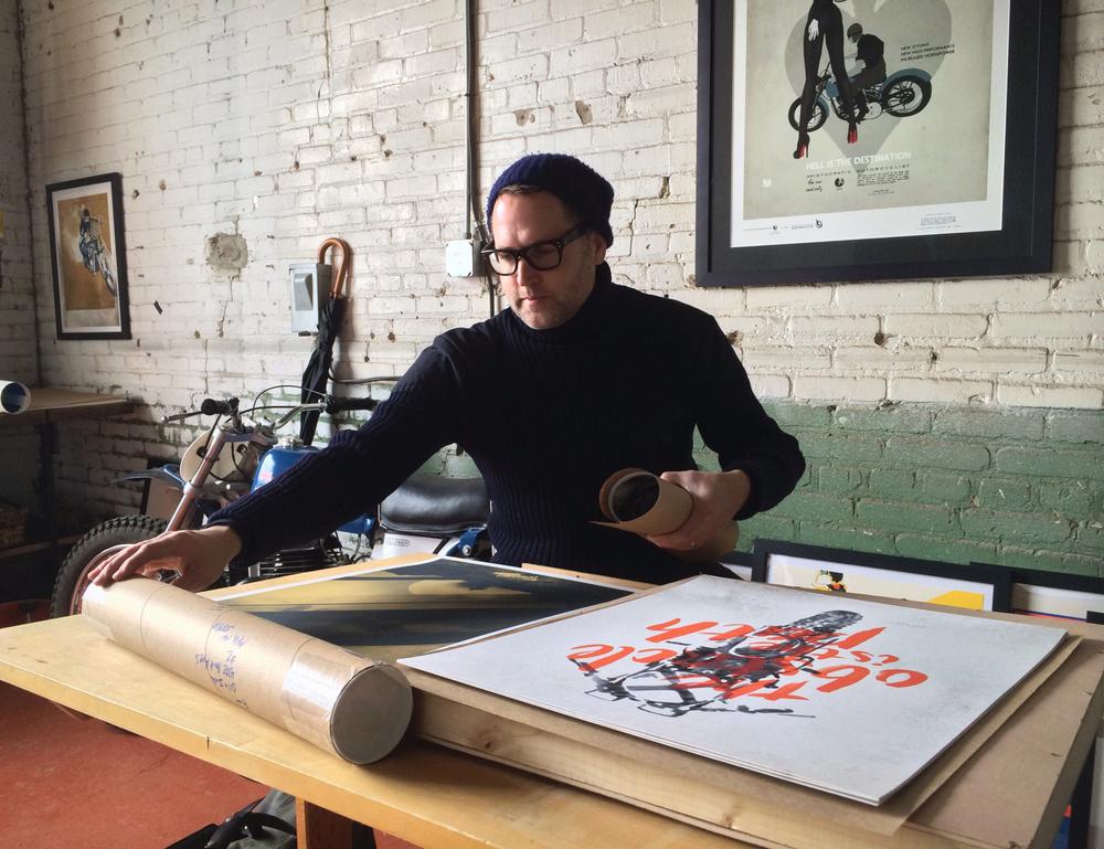 Oil&Ink founder John Christenson working in the Oil&Ink studio