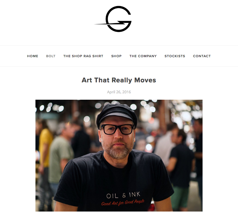 Thanks to Godspeed for highlighting the Oil&Ink Expo    http://godspeedco.com/blog/2016/4/25/art-that-really-moves