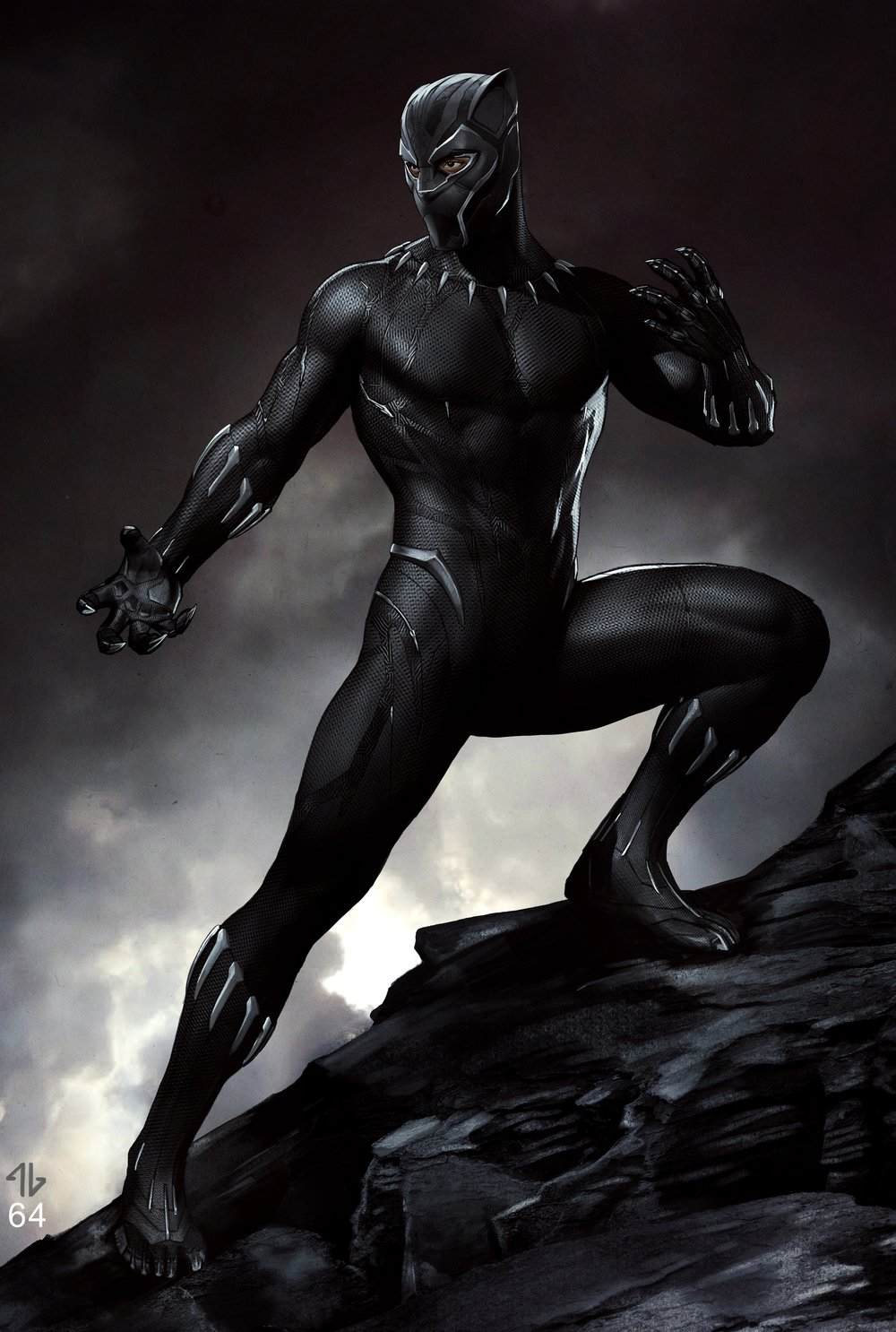 Black Panther fight pose