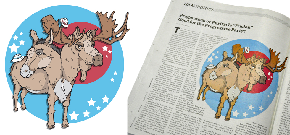 Donkey-Moose for a Seven Days article
