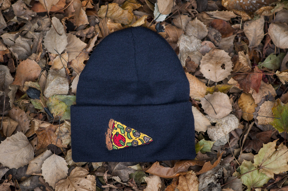 pizza hats to keep you cozy...and pizzay
