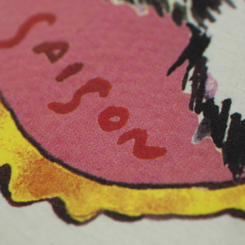halftone screen print detail
