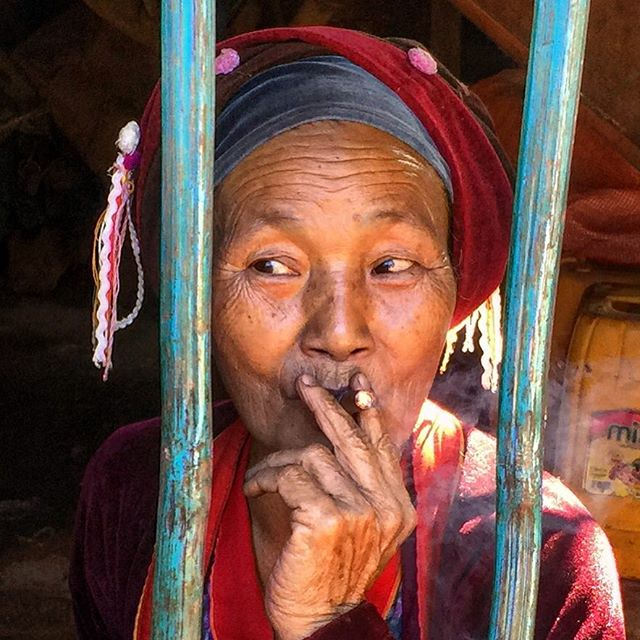 This wonderful lady at our lunch on the first day of the trek in Shan State