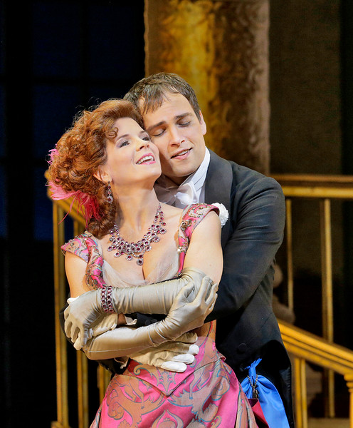 Kelli O'Hara and Alek Shrader as Valencienne and Camille