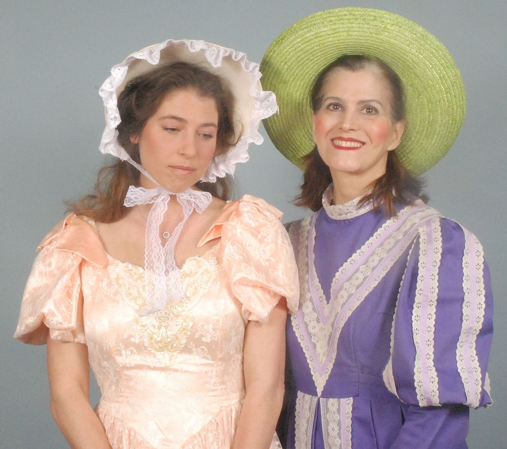 Brett Kroeger as Constance with Deborah Connelly as Mrs. Partlett