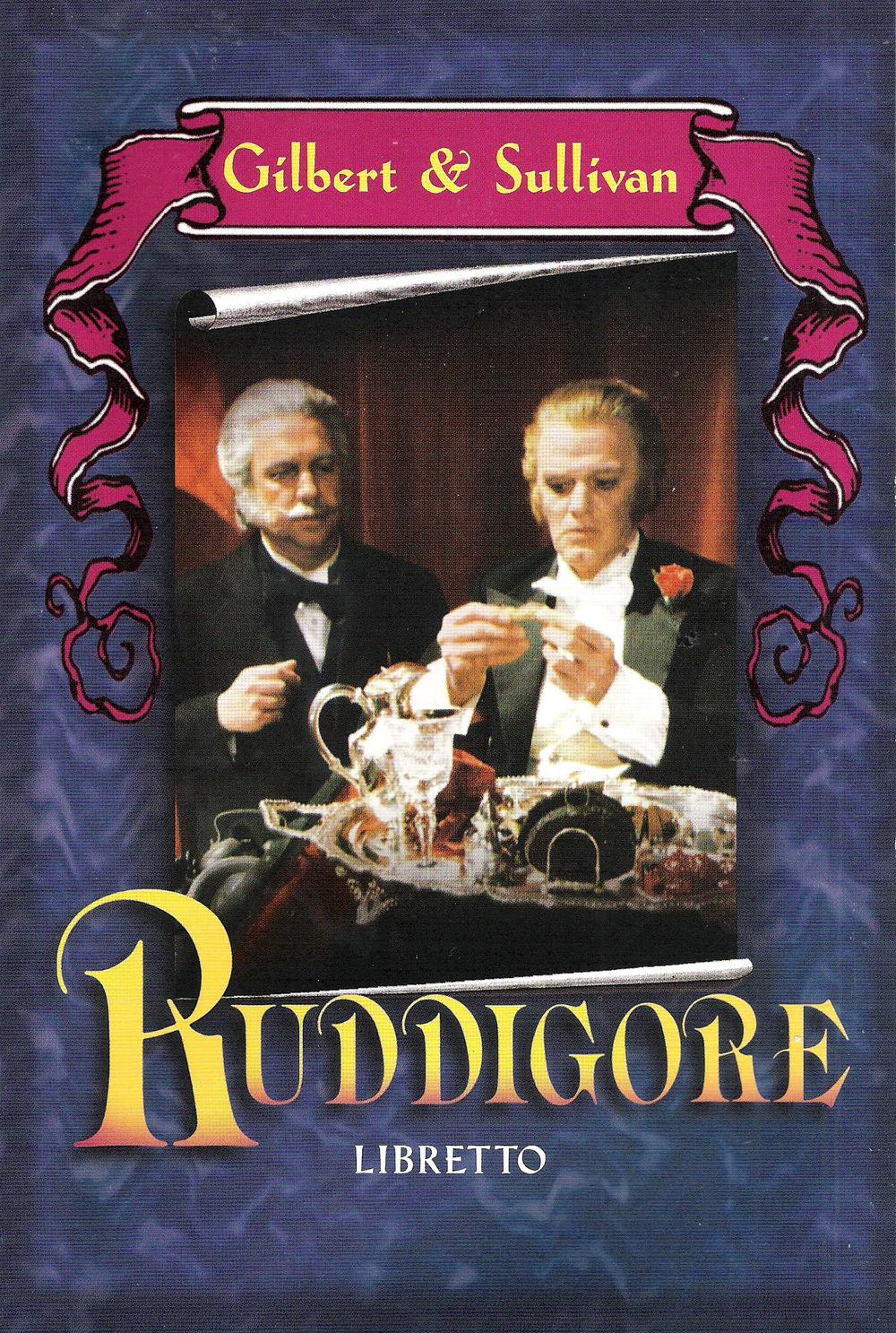 BBC television production of Ruddigore from mid 1980s (libretto cover)