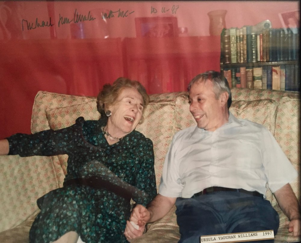 Michael Spierman with Ursula Vaughan William, widow of Ralph Vaughan Williams, 1997