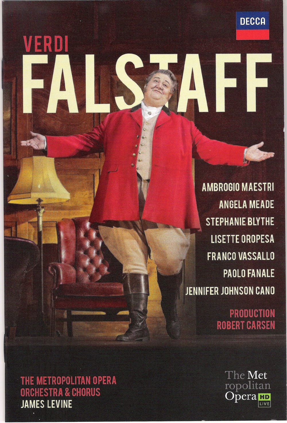 Ambrogio Maestri as Verdi's Falstaff
