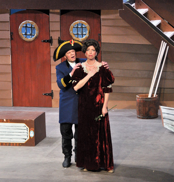 Frank Sisson as Captain Corcoran and Brett Kroeger as Josephine