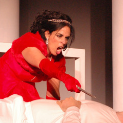 Samia Bahu is Miranda Sfortunata, here as Puccini's Tosca