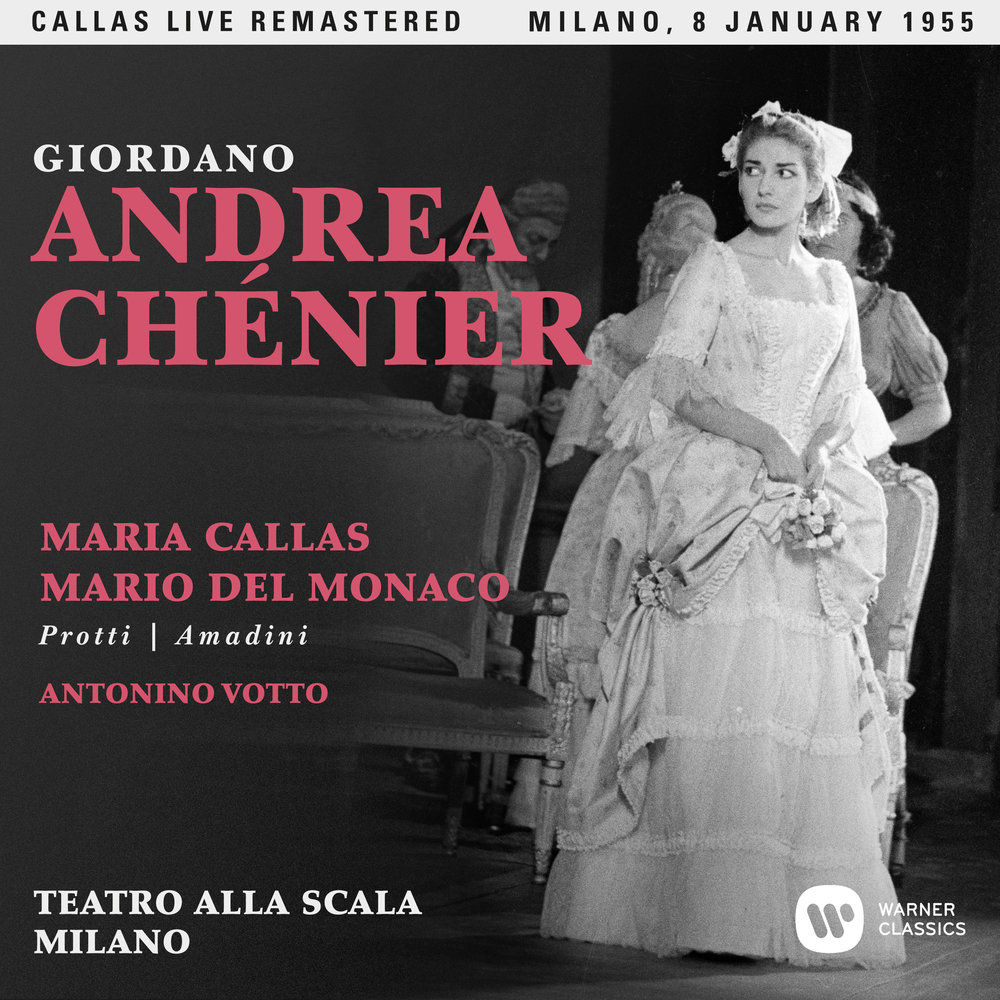 Maria Callas as Maddalena in Andrea Chenier, La Scala, 8 January, 1955